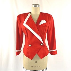 Vintage 80s Blazer Double Breasted 8